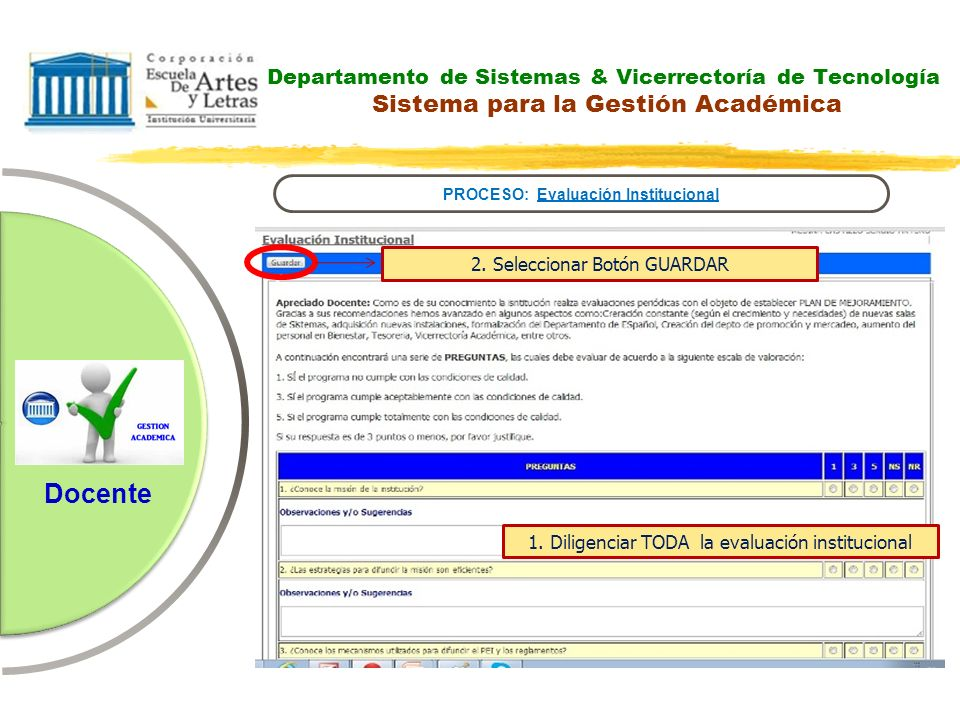 PROCESO: Evaluación Institucional