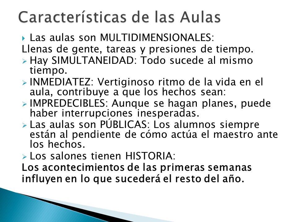 Características de las Aulas