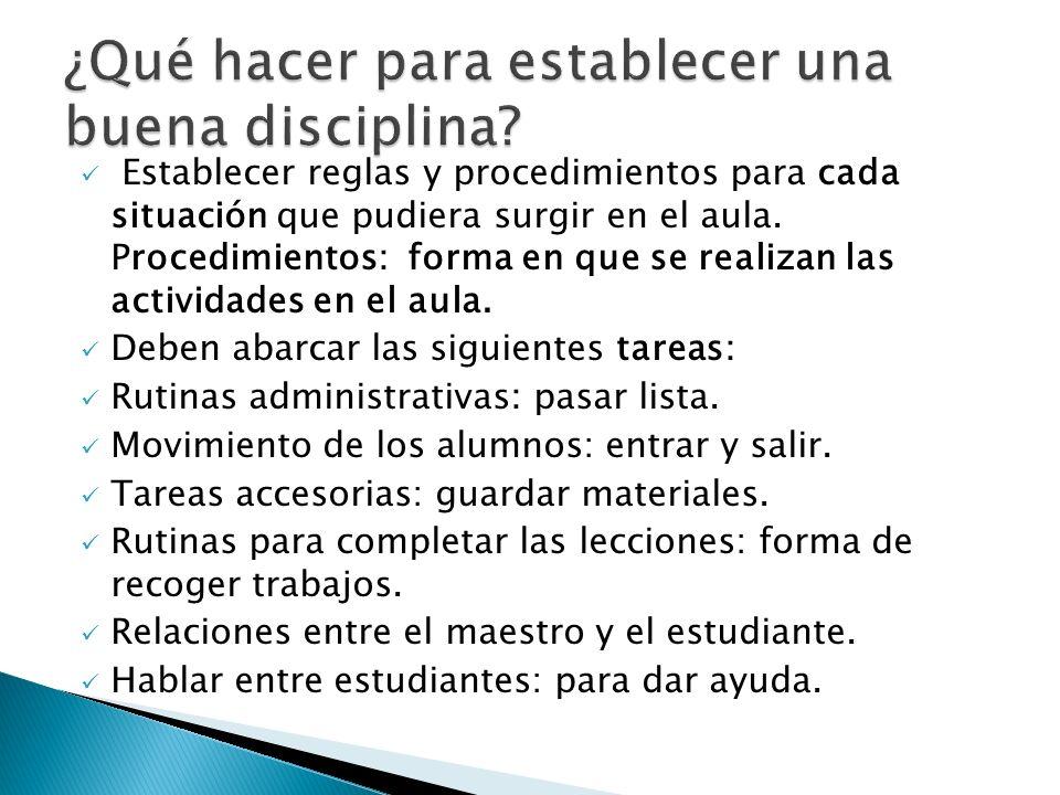 ¿Qué hacer para establecer una buena disciplina