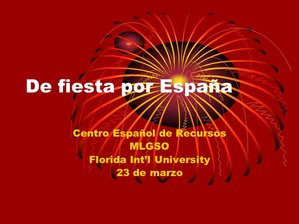 Centro Español de Recursos MLGSO Florida Int'l University 23 de marzo