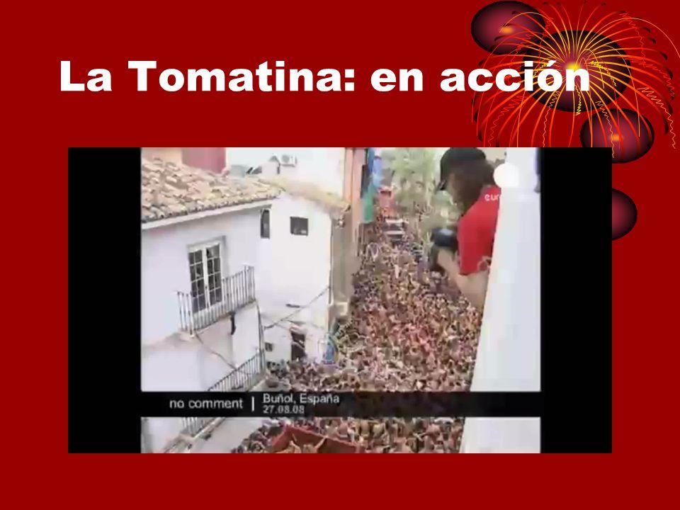 La Tomatina: en acción