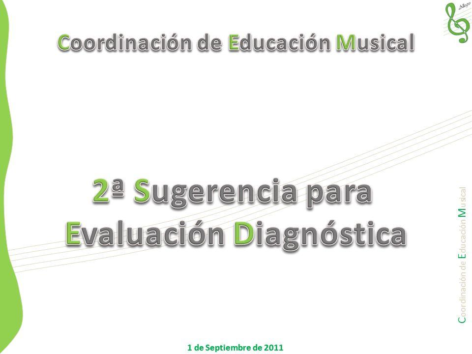 Coordinación de Educación Musical Evaluación Diagnóstica