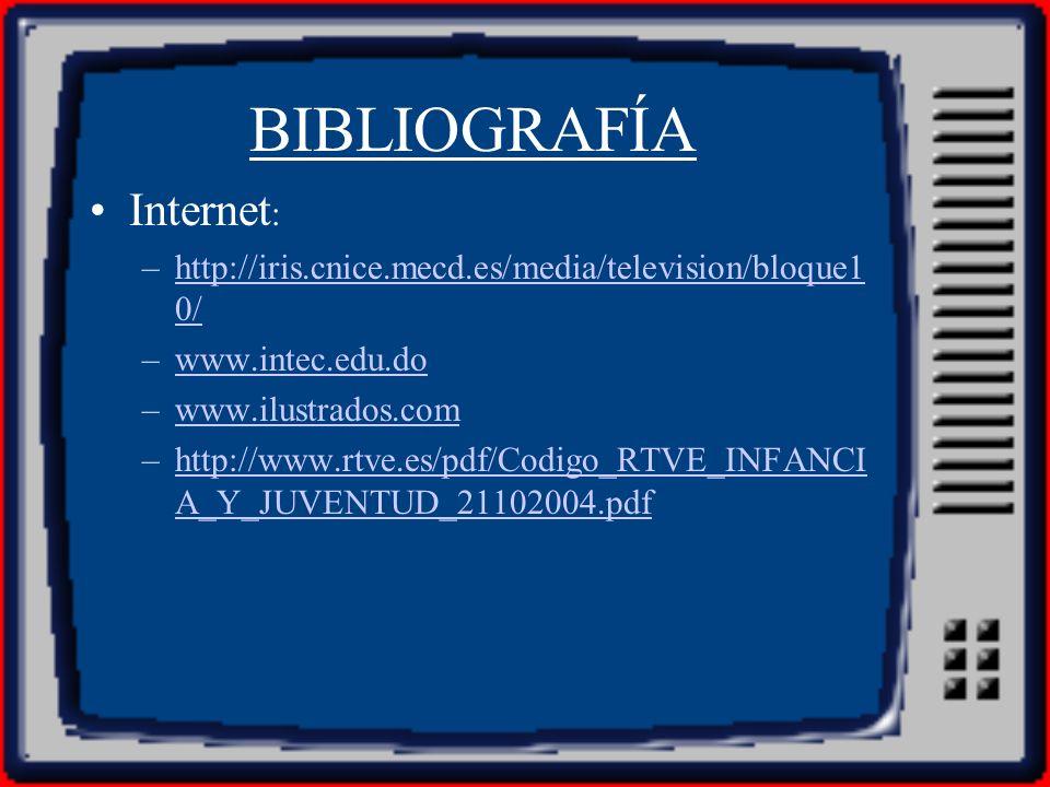 BIBLIOGRAFÍA Internet: