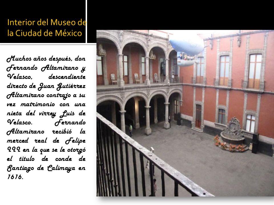 Interior del Museo de la Ciudad de México
