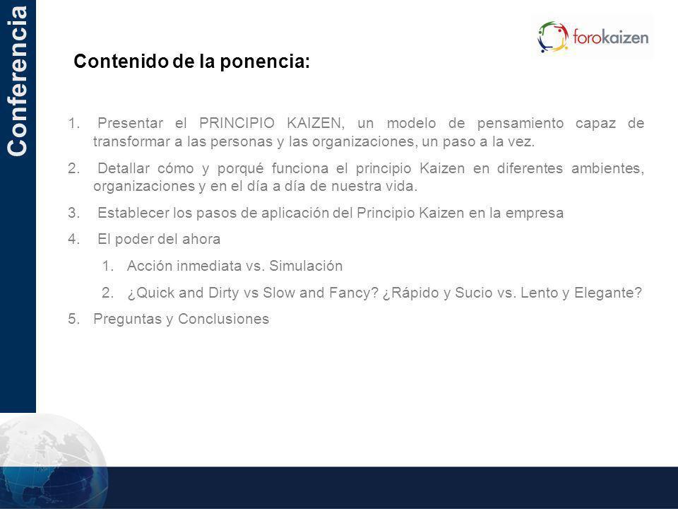 Conferencia Contenido de la ponencia: