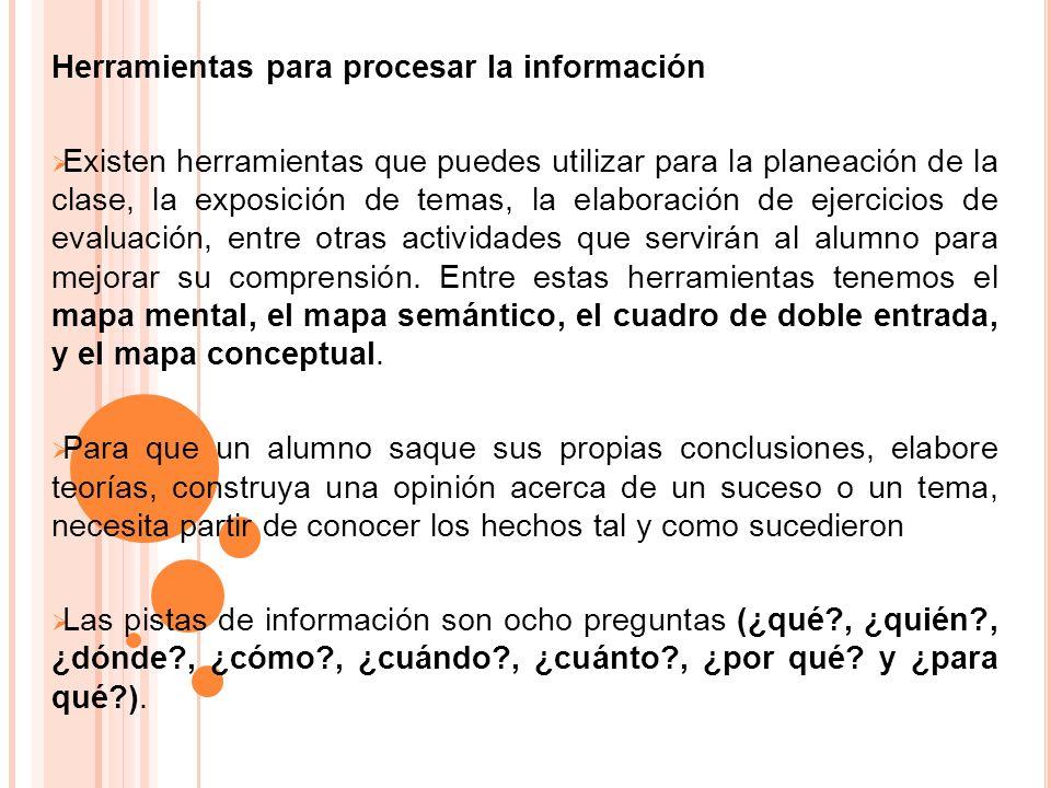 Herramientas para procesar la información