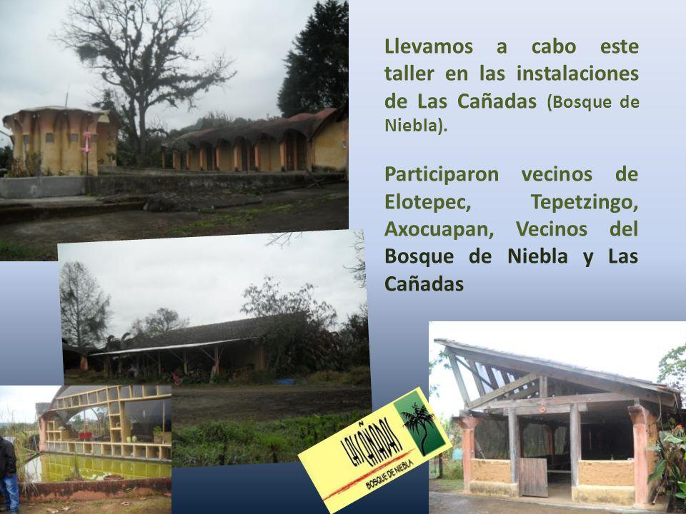 Llevamos a cabo este taller en las instalaciones de Las Cañadas (Bosque de Niebla).