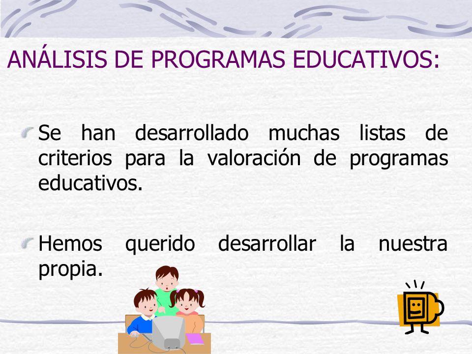 ANÁLISIS DE PROGRAMAS EDUCATIVOS: