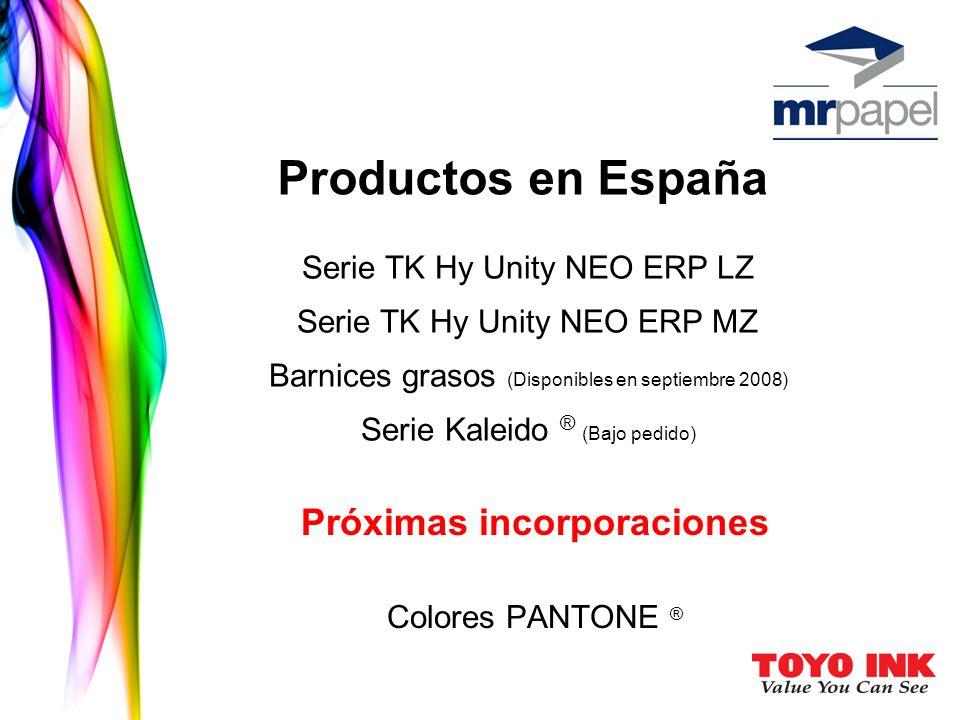 Próximas incorporaciones Colores PANTONE ®