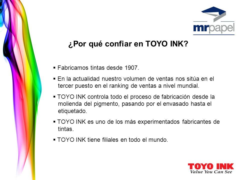¿Por qué confiar en TOYO INK