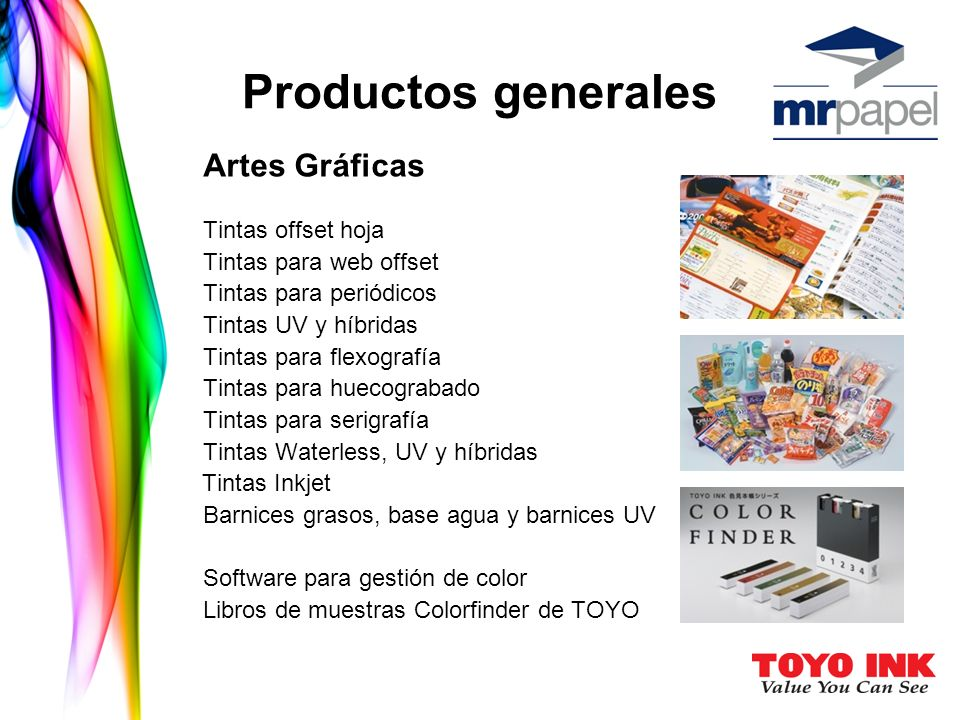 Productos generales Artes Gráficas Tintas para web offset