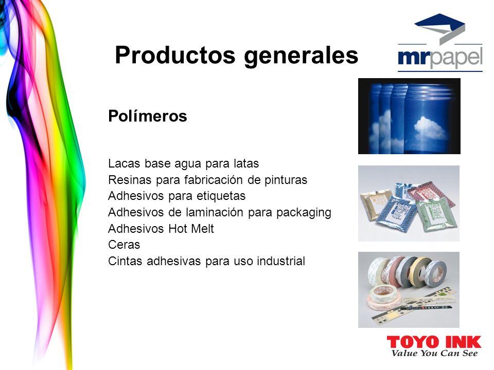 Productos generales Polímeros Resinas para fabricación de pinturas