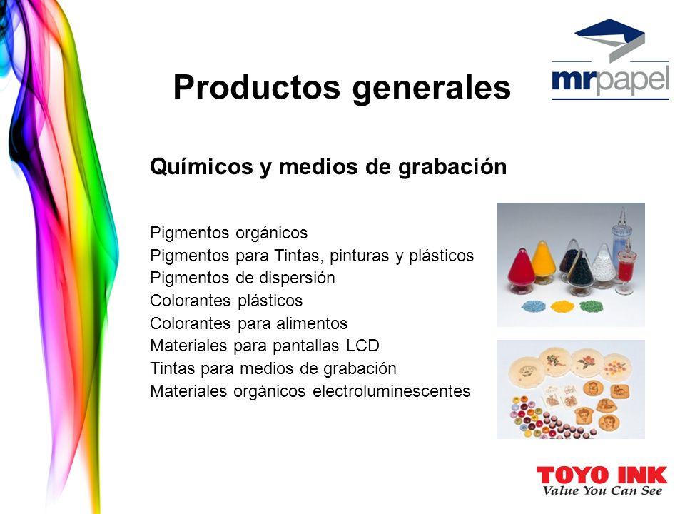 Productos generales Químicos y medios de grabación