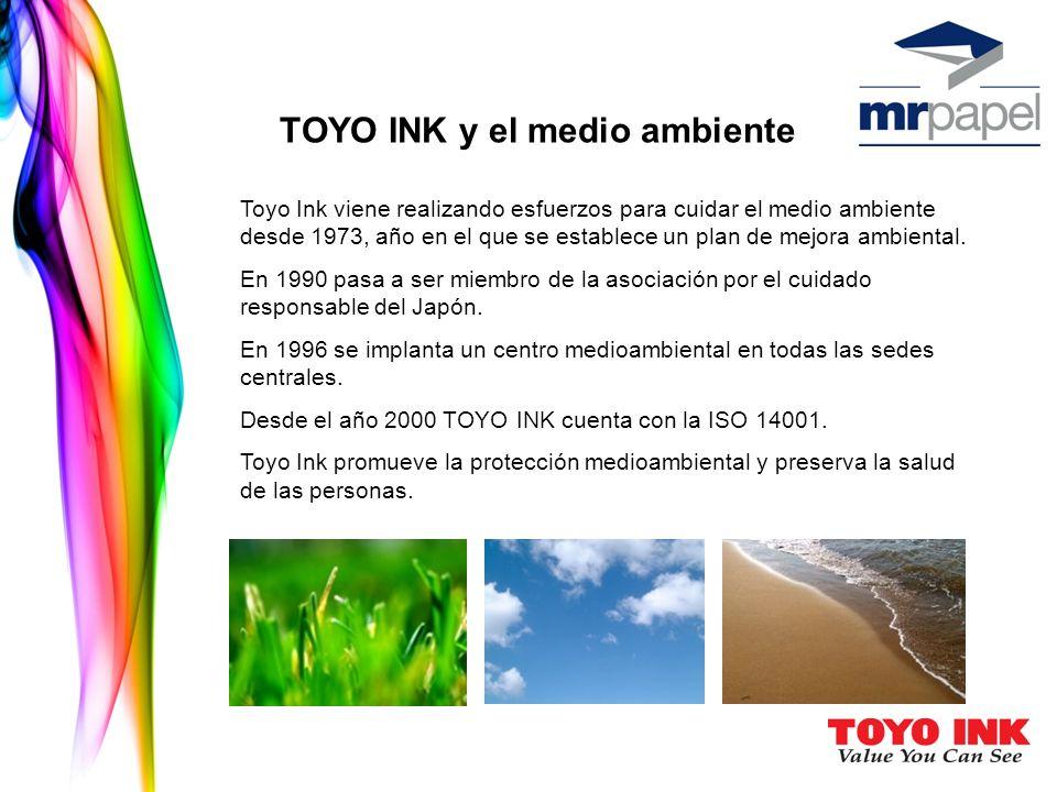 TOYO INK y el medio ambiente