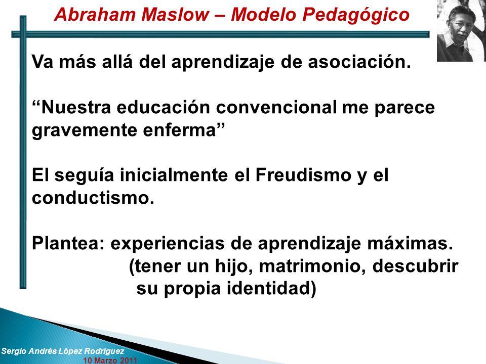 Abraham Maslow – Modelo Pedagógico