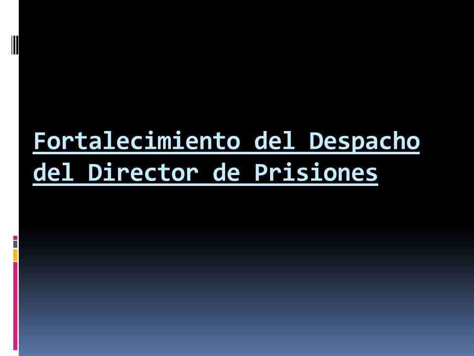Fortalecimiento del Despacho del Director de Prisiones