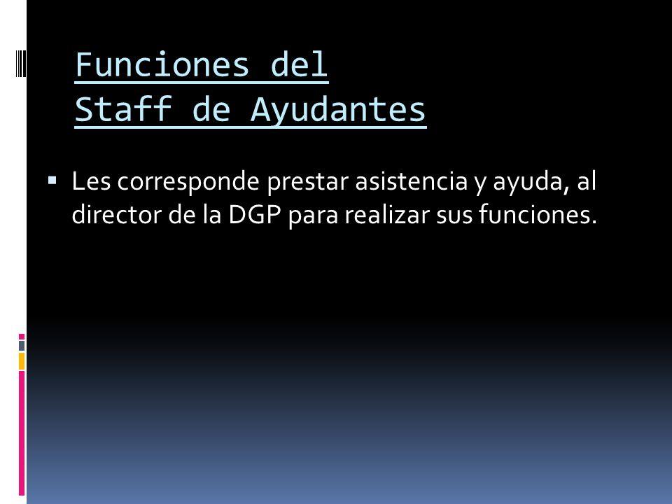 Funciones del Staff de Ayudantes