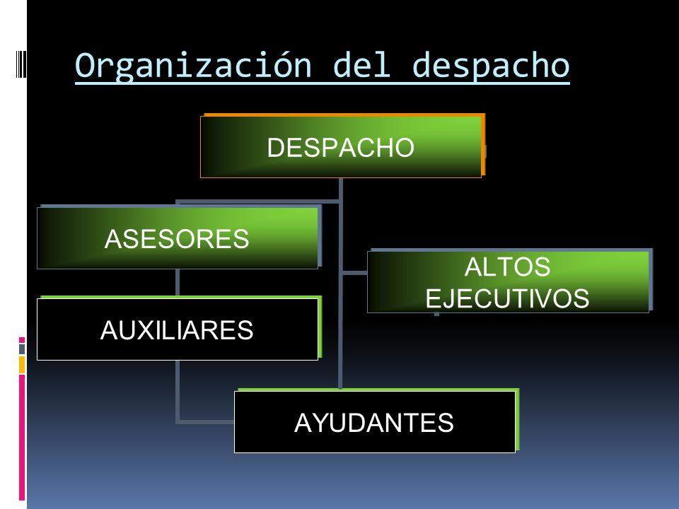 Organización del despacho