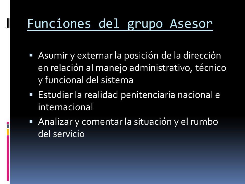 Funciones del grupo Asesor