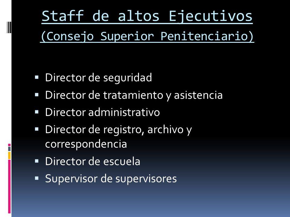 Staff de altos Ejecutivos (Consejo Superior Penitenciario)