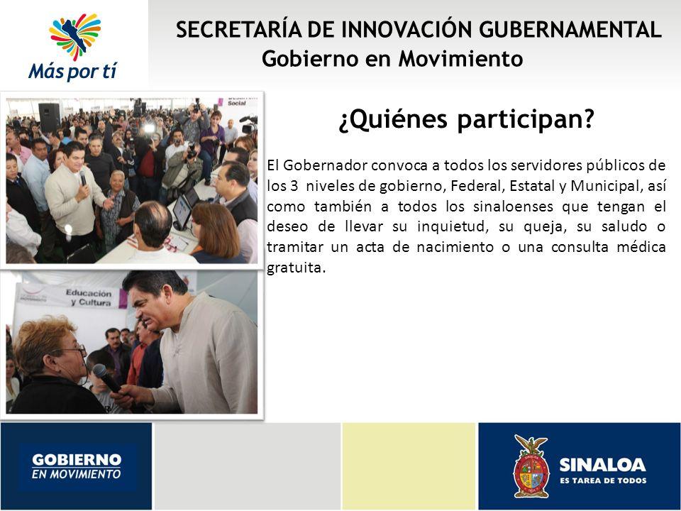 ¿Quiénes participan SECRETARÍA DE INNOVACIÓN GUBERNAMENTAL