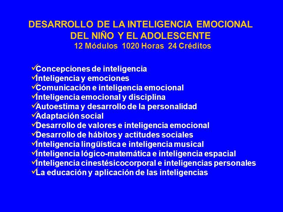DESARROLLO DE LA INTELIGENCIA EMOCIONAL DEL NIÑO Y EL ADOLESCENTE