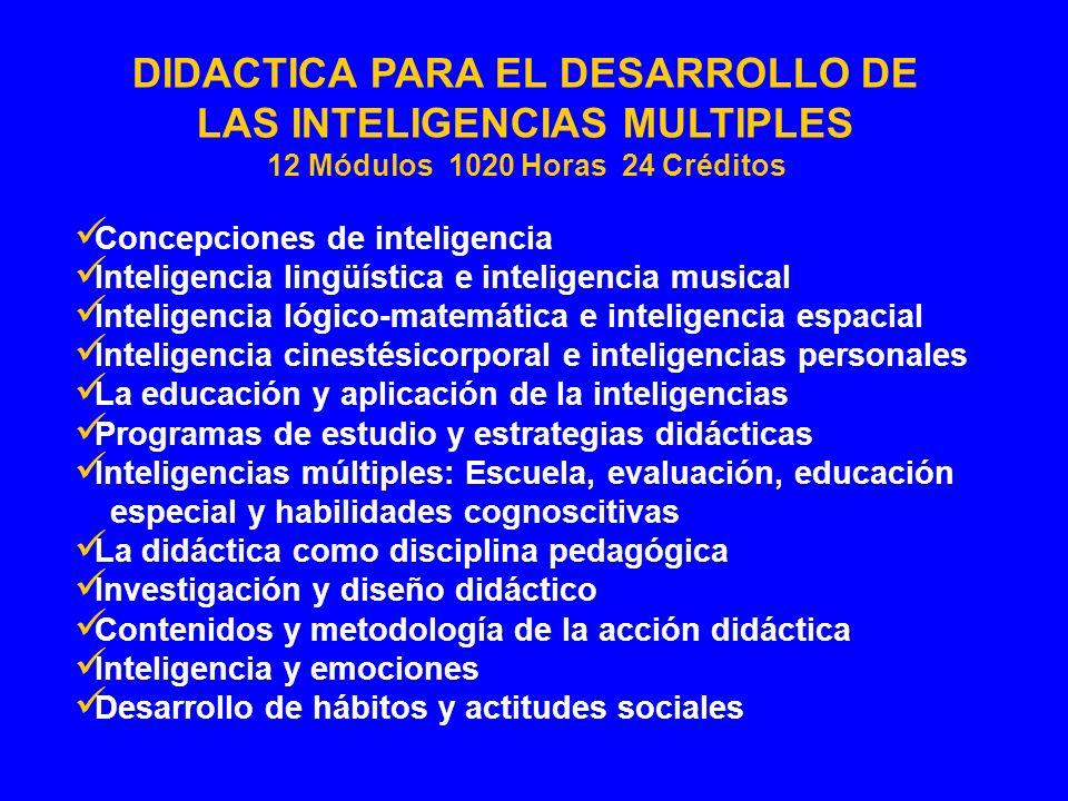 DIDACTICA PARA EL DESARROLLO DE LAS INTELIGENCIAS MULTIPLES