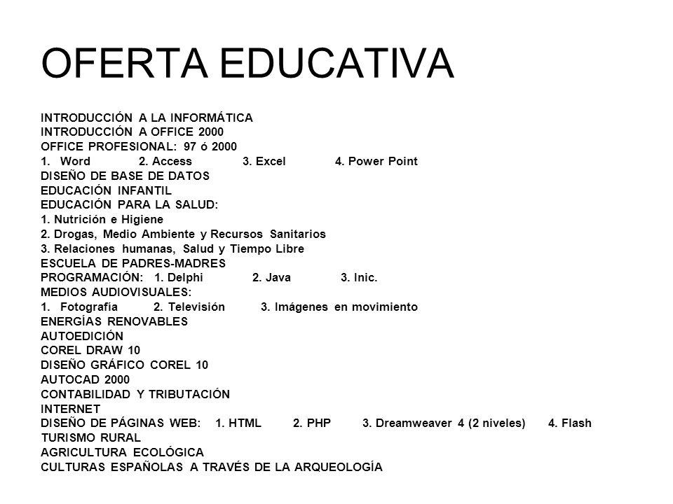 OFERTA EDUCATIVA INTRODUCCIÓN A LA INFORMÁTICA