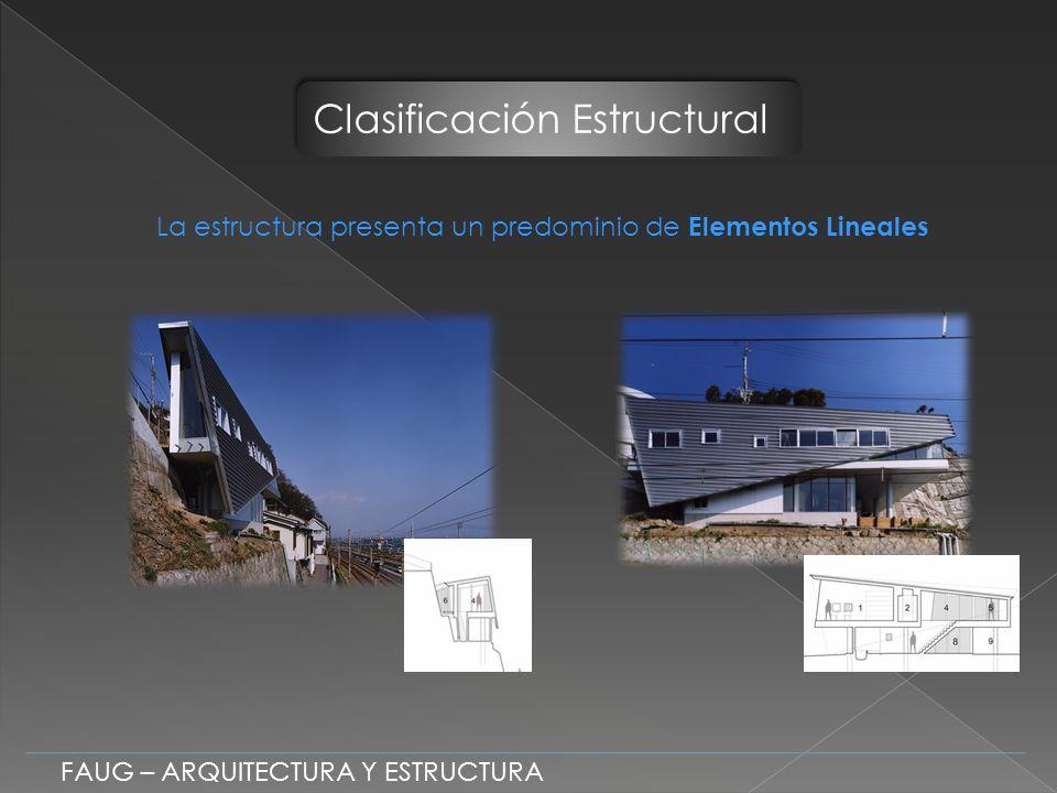 La estructura presenta un predominio de Elementos Lineales