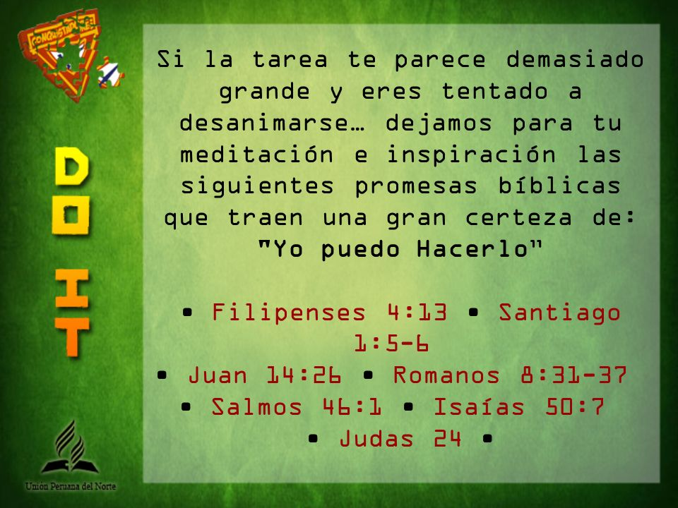 • Filipenses 4:13 • Santiago 1:5-6