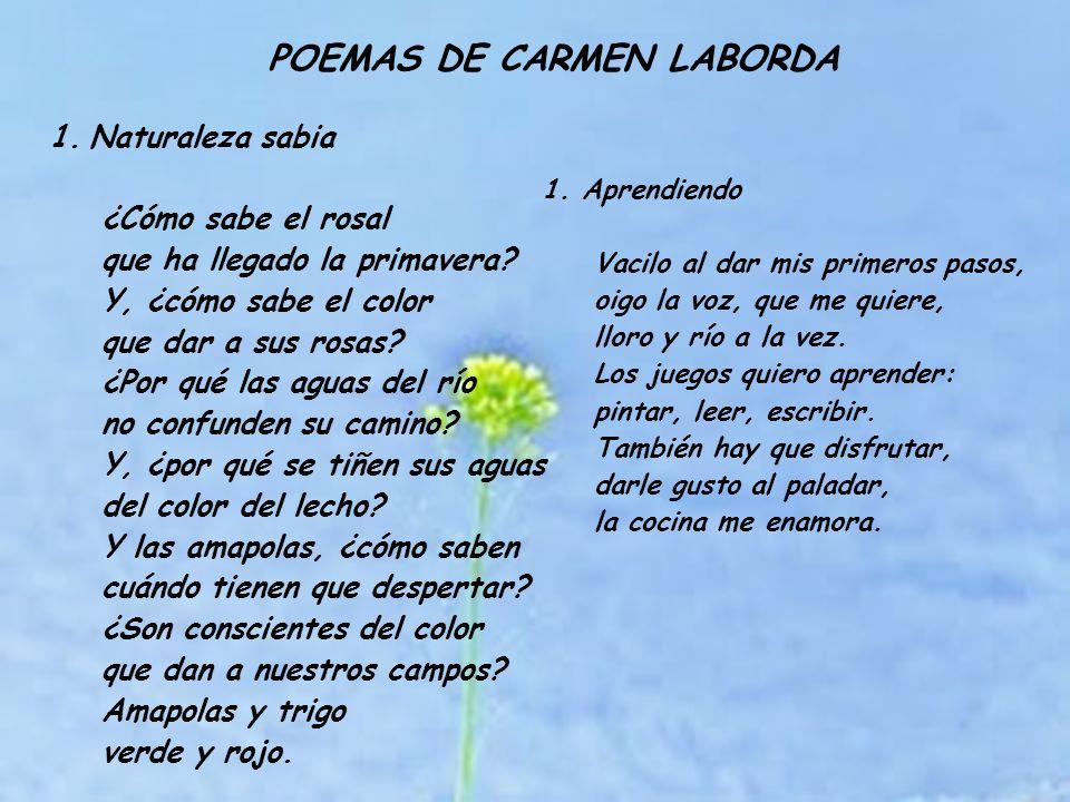 POEMAS DE CARMEN LABORDA