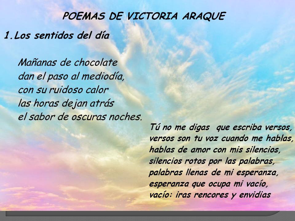 POEMAS DE VICTORIA ARAQUE