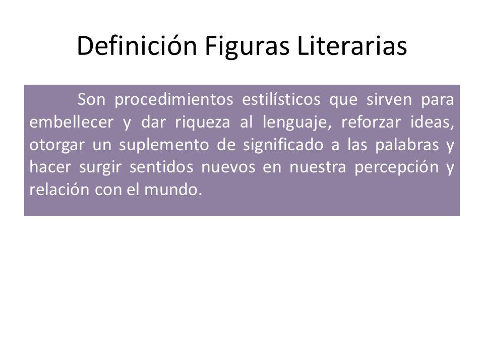 Definición Figuras Literarias