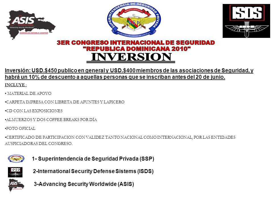 3ER CONGRESO INTERNACIONAL DE SEGURIDAD