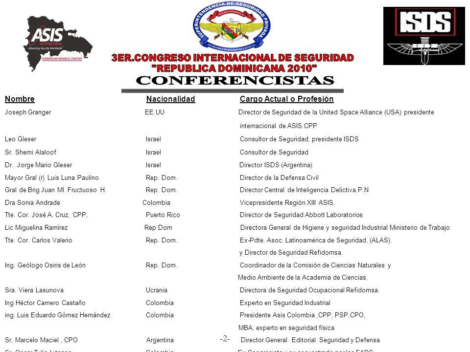 3ER.CONGRESO INTERNACIONAL DE SEGURIDAD