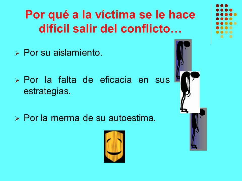 Por qué a la víctima se le hace difícil salir del conflicto…