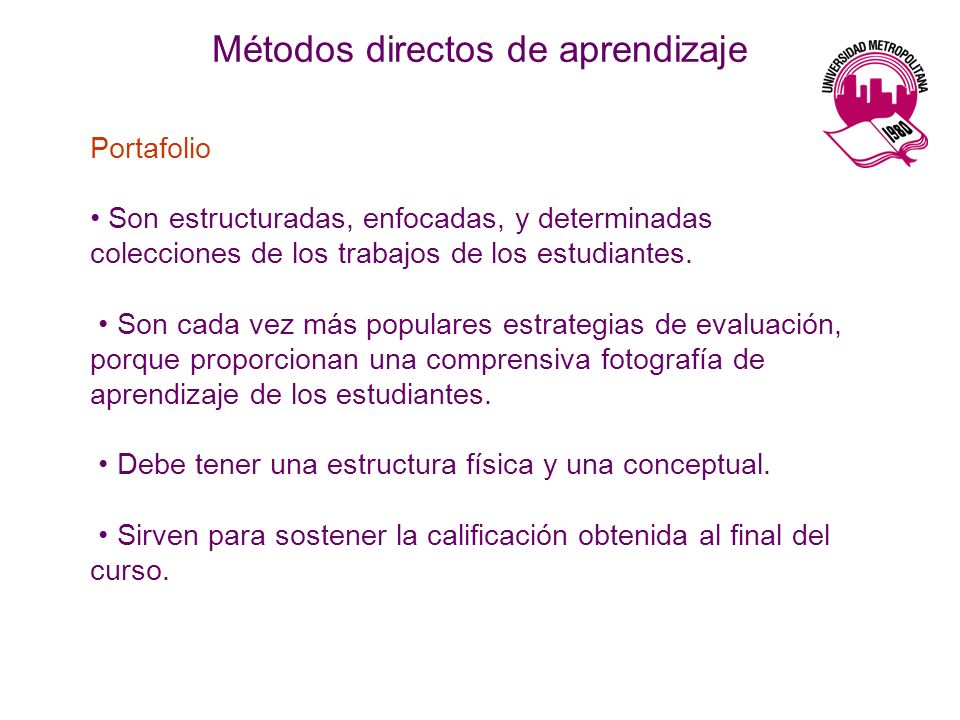 Métodos directos de aprendizaje