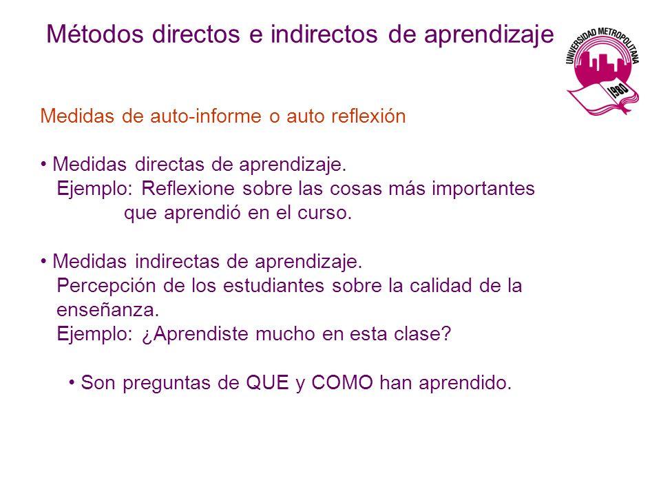 Métodos directos e indirectos de aprendizaje