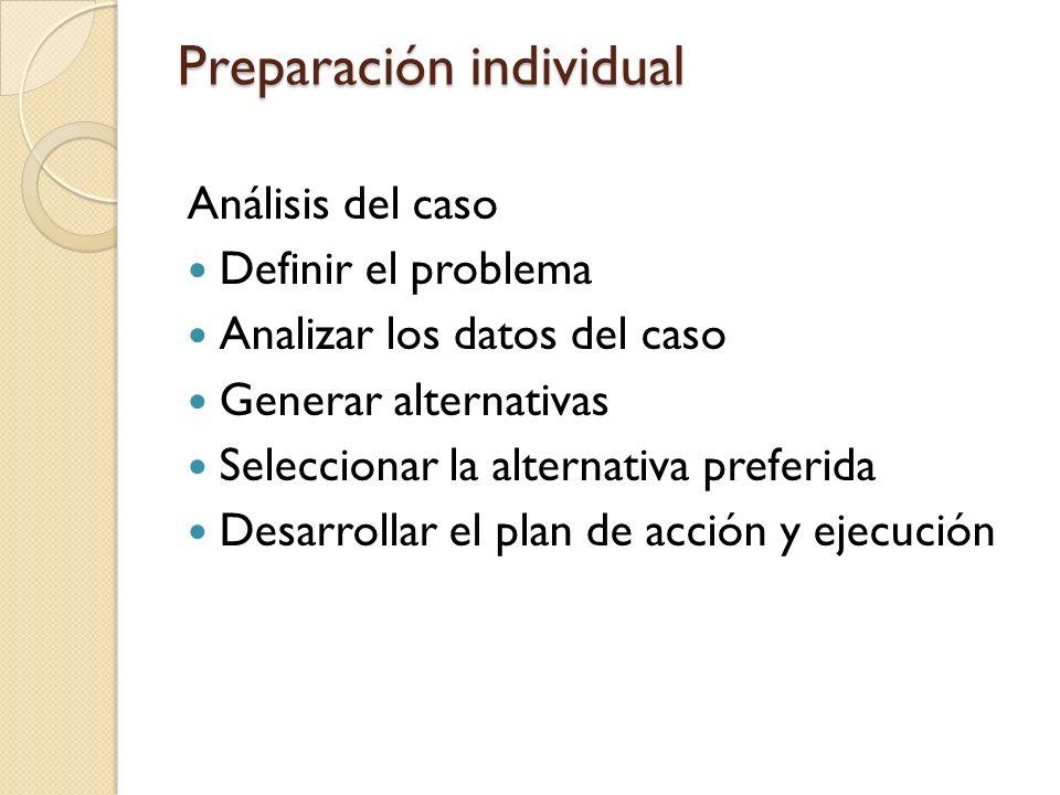 Preparación individual