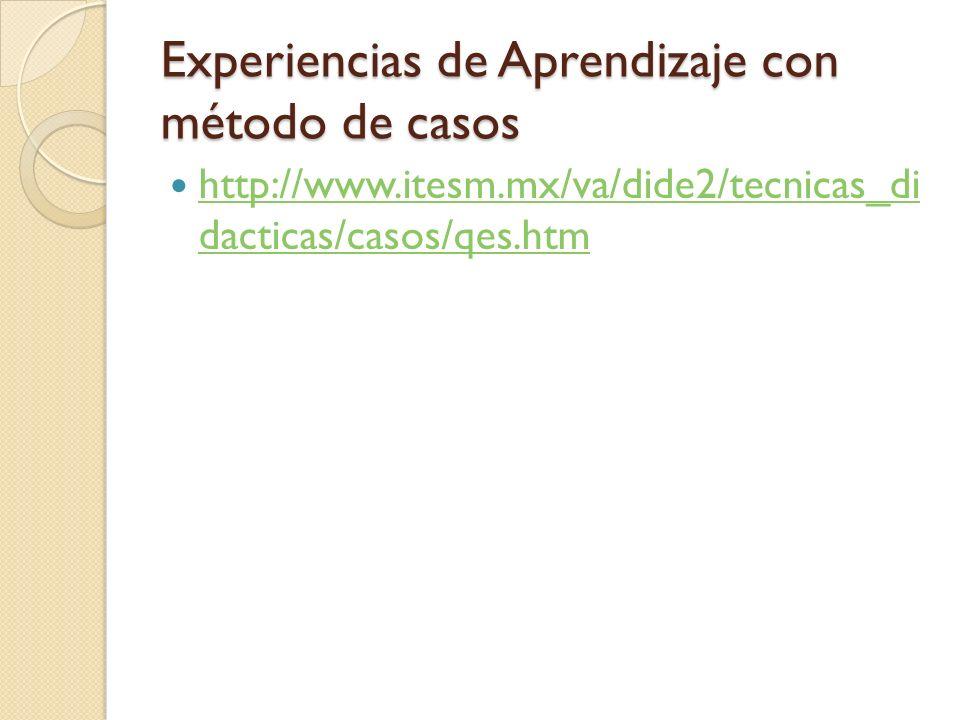 Experiencias de Aprendizaje con método de casos