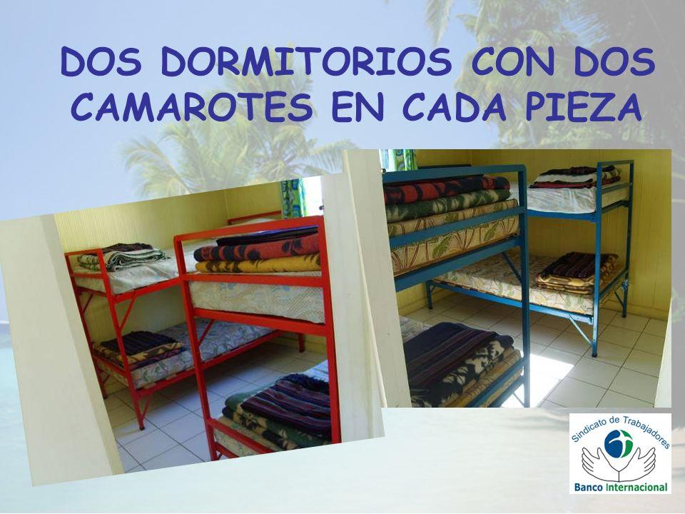 DOS DORMITORIOS CON DOS CAMAROTES EN CADA PIEZA