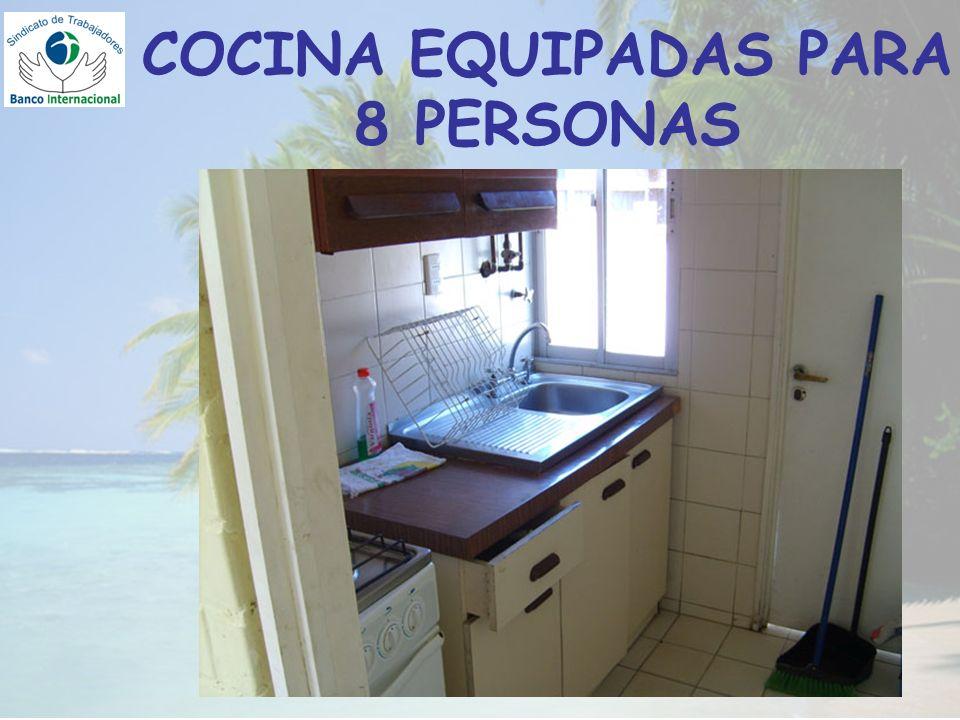 COCINA EQUIPADAS PARA 8 PERSONAS