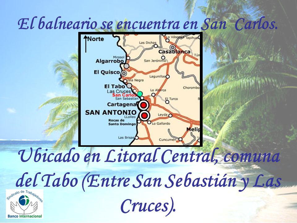El balneario se encuentra en San Carlos
