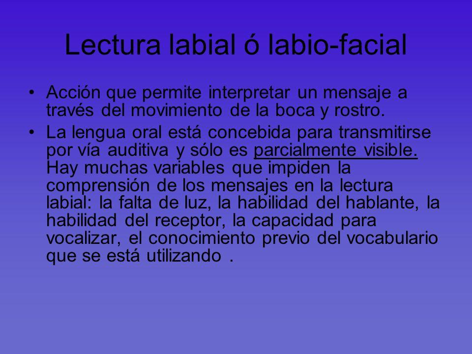 Lectura labial ó labio-facial