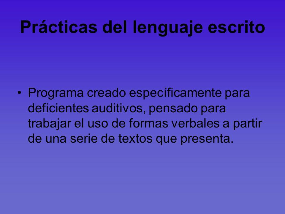 Prácticas del lenguaje escrito