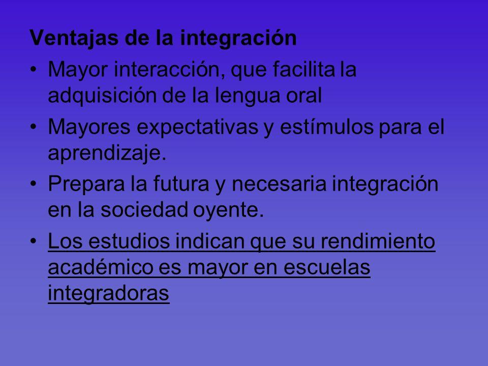 Ventajas de la integración