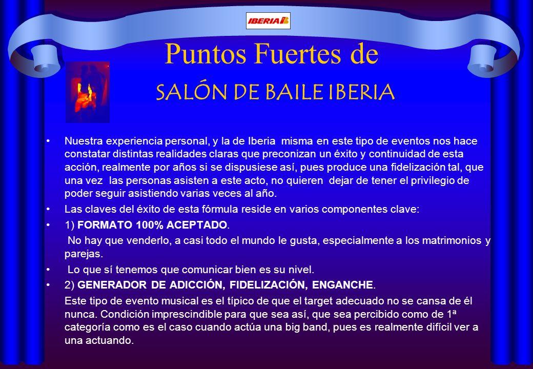 Puntos Fuertes de SALÓN DE BAILE IBERIA
