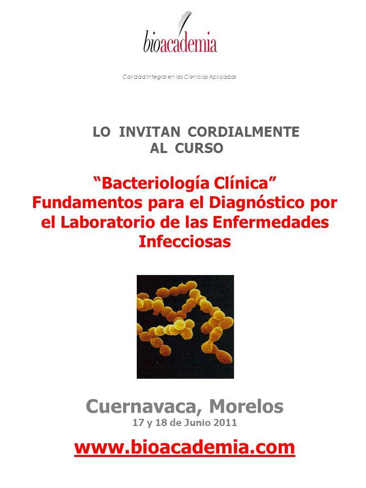 LO INVITAN CORDIALMENTE Bacteriología Clínica