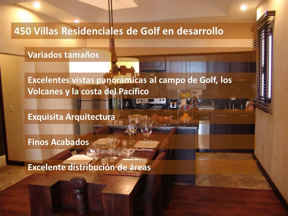 450 Villas Residenciales de Golf en desarrollo