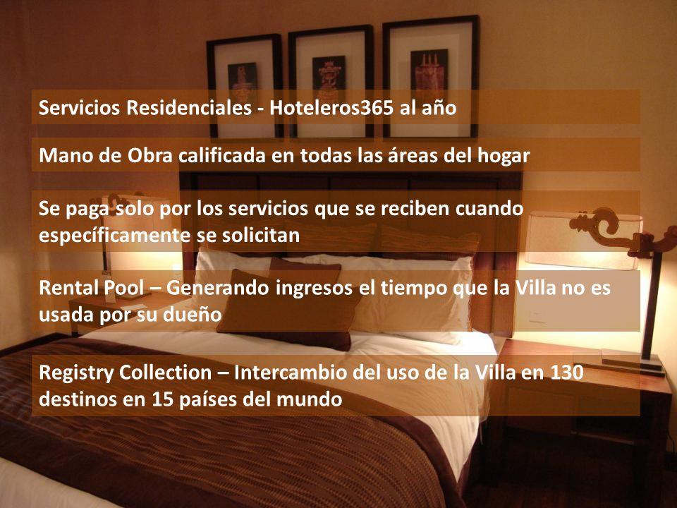 Servicios Residenciales - Hoteleros365 al año